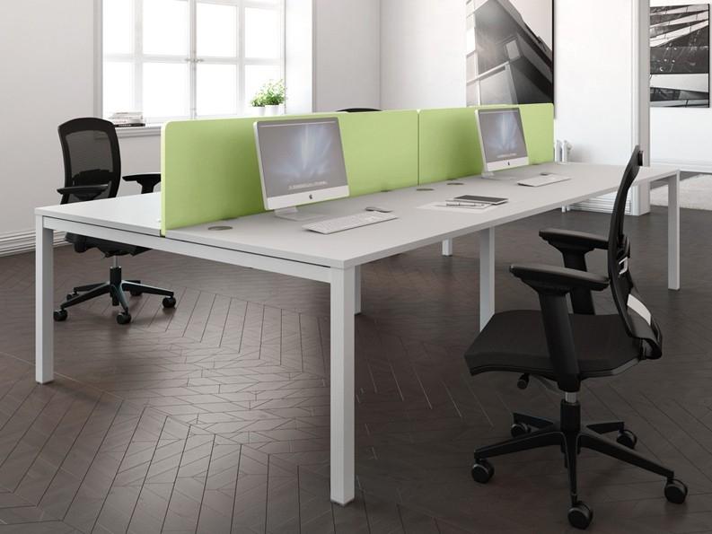 Buronomic Astrolite 6 Person Call Centre Bench Office Desk