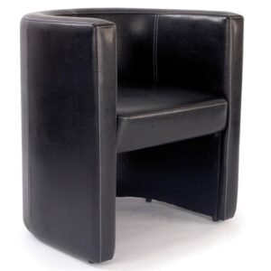 Roma Metro High Back Reception Tub Chair in Brown