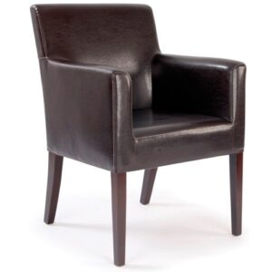 Metro Cubed Reception Armchair in Brown