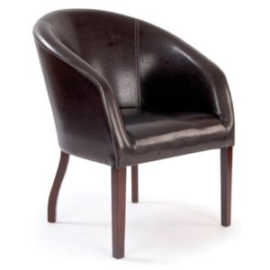 Metro Curved Reception Armchair in Brown