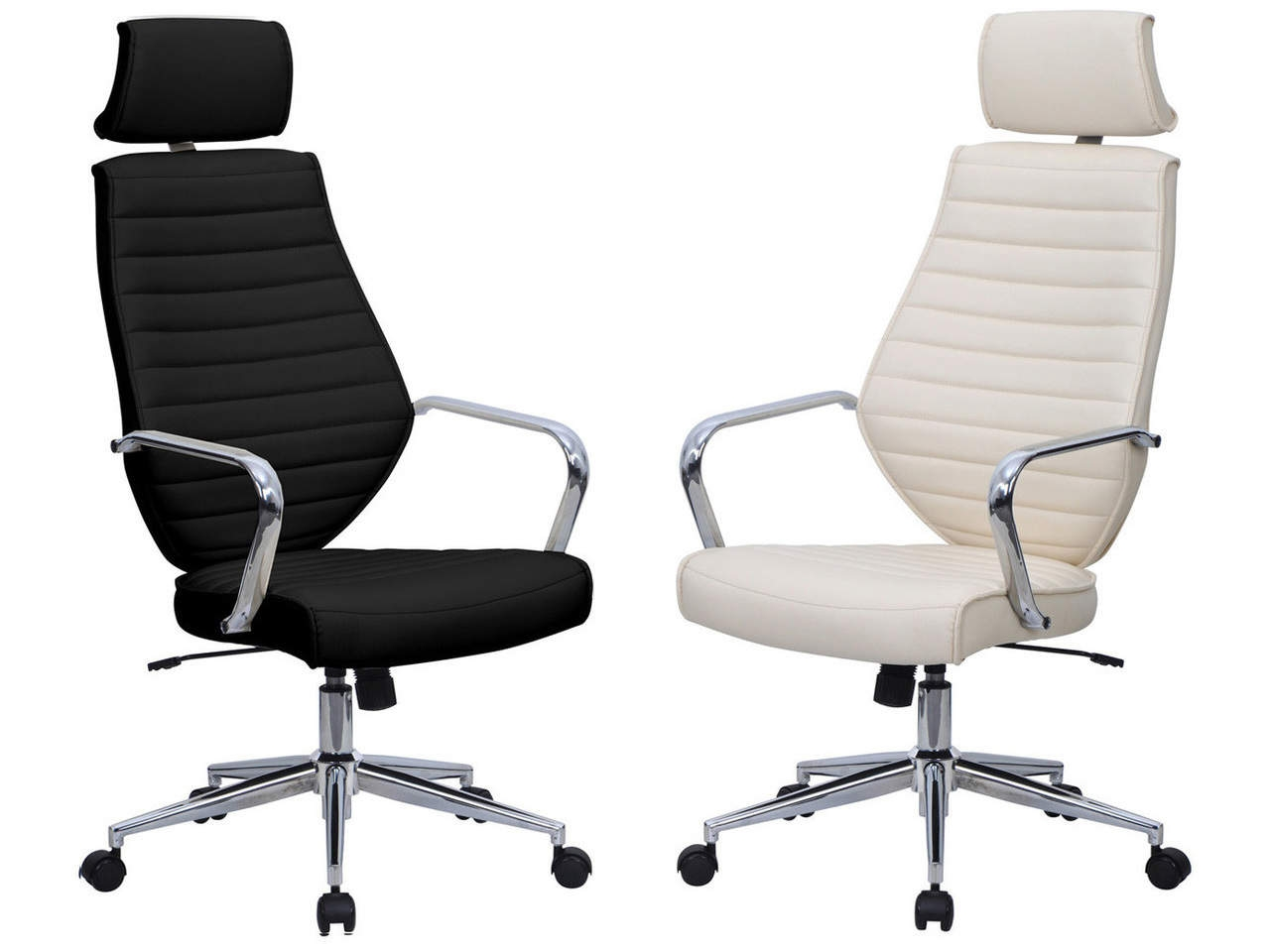 Atlas Leather High Back Executive Chair in Black or White