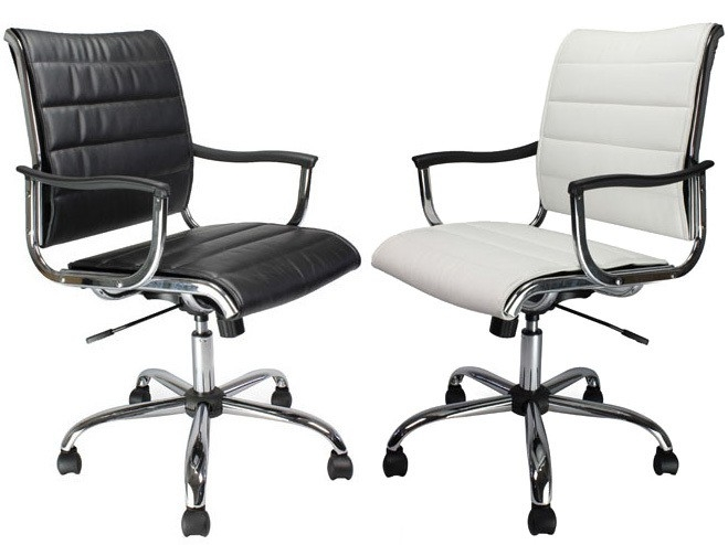 Carbis Leather Effect Designer Executive Chair in Black or White