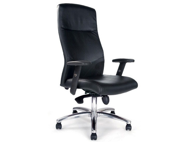 Jester Deluxe Leather Faced Shirt-Tail High Back Executive Chair