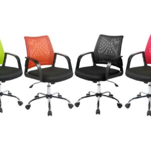 Calypso Mesh Task Operator Chair in Black, Green, Red or Orange