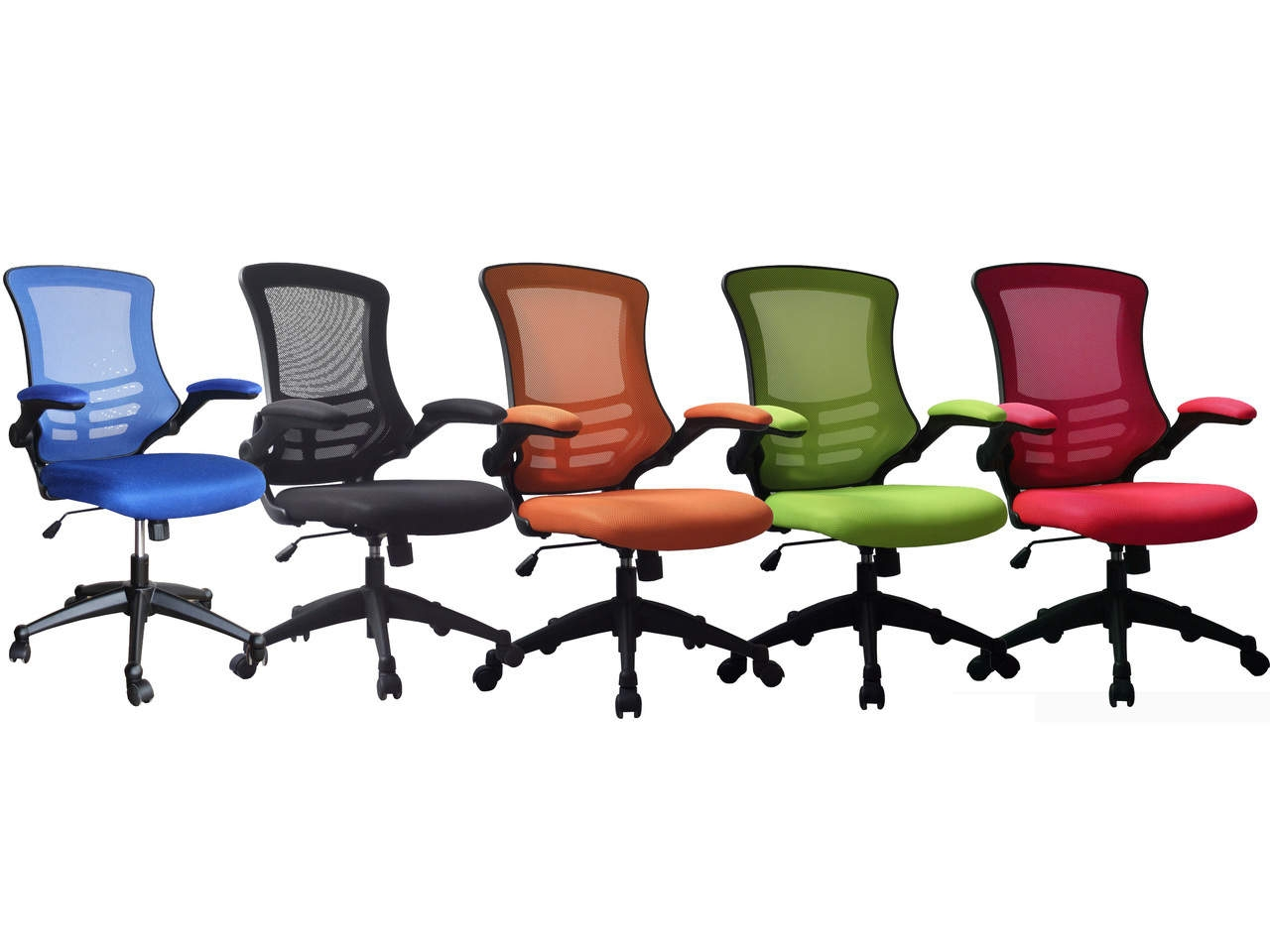 Luna Designer Mesh Operator Chair in Black, Blue, Green, Red or Orange