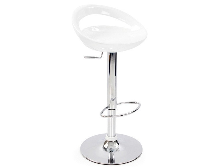 Manhattan Modern Adjustable Bar Stool in Black, White, Silver and Red