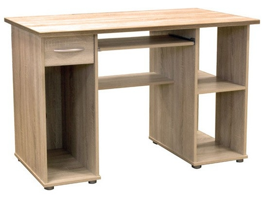 Woodland Home Office Desk Workstation in Light Oak