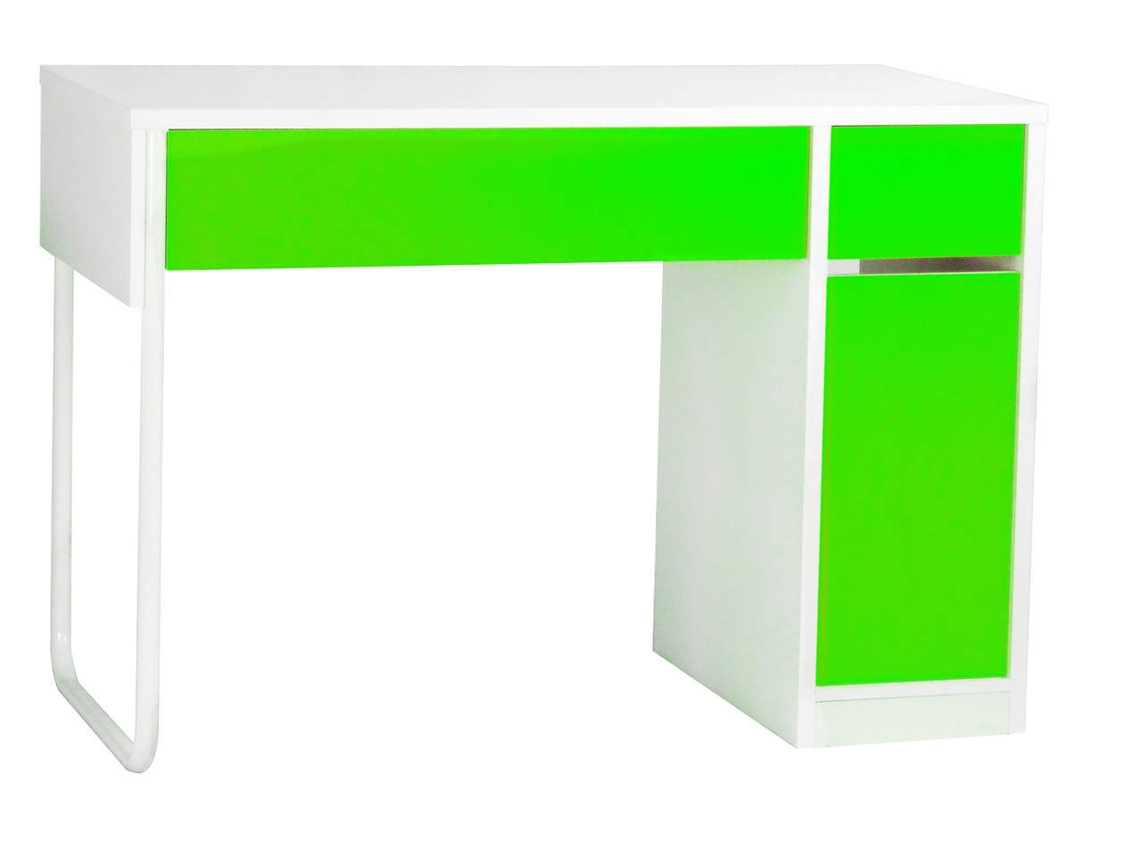 Spectrum Home Office Desk Workstation in White and Black, Green, Pink, Orange and Blue