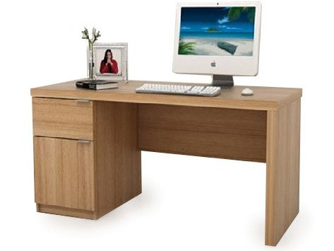 Jonas Home Office Desk Workstation in Teak