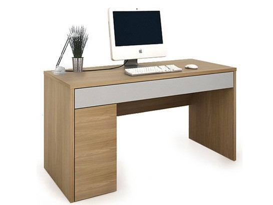 Colorado Oak & Silver Home Office Workstation with Storage