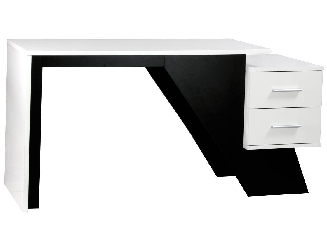 Aaron Designer Black & White Home office Workstation