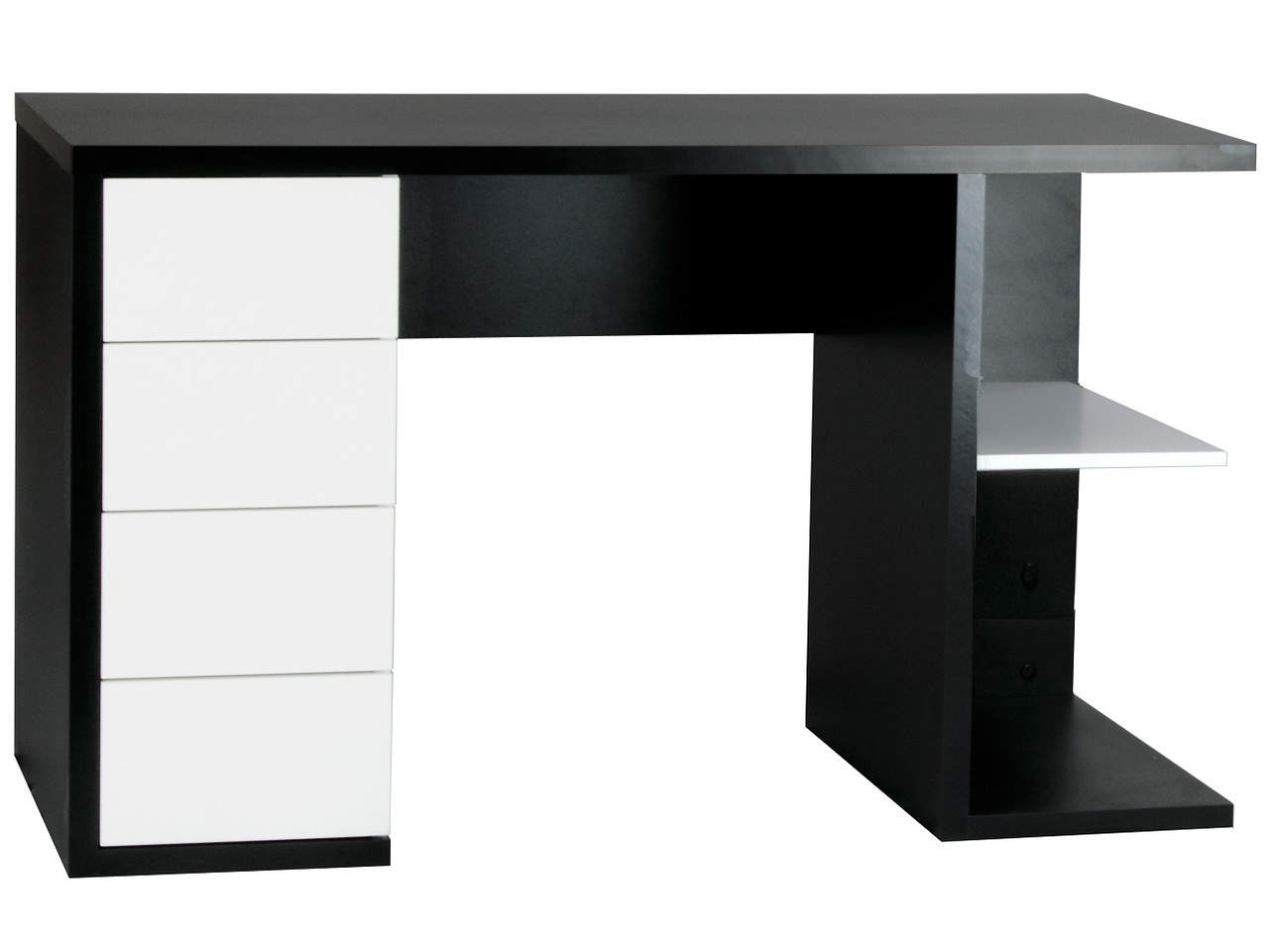 Hobart Designer Black & White Home Office Workstation