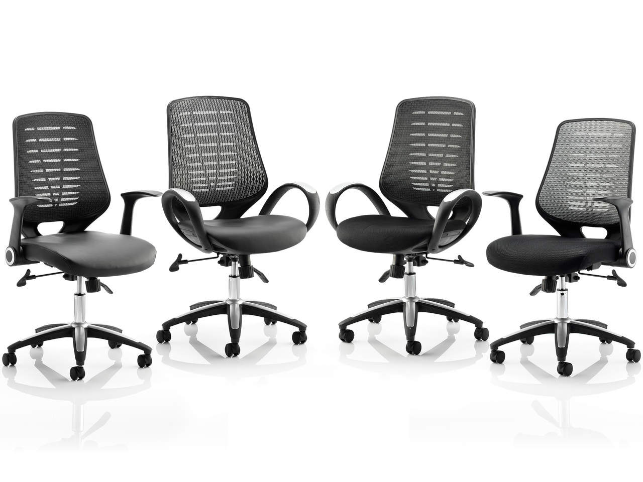 Relay Sprint Task Operator Office Chair with Airmesh or Leather Seat