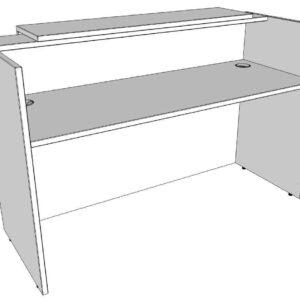 TCS Zion Single Reception Desk