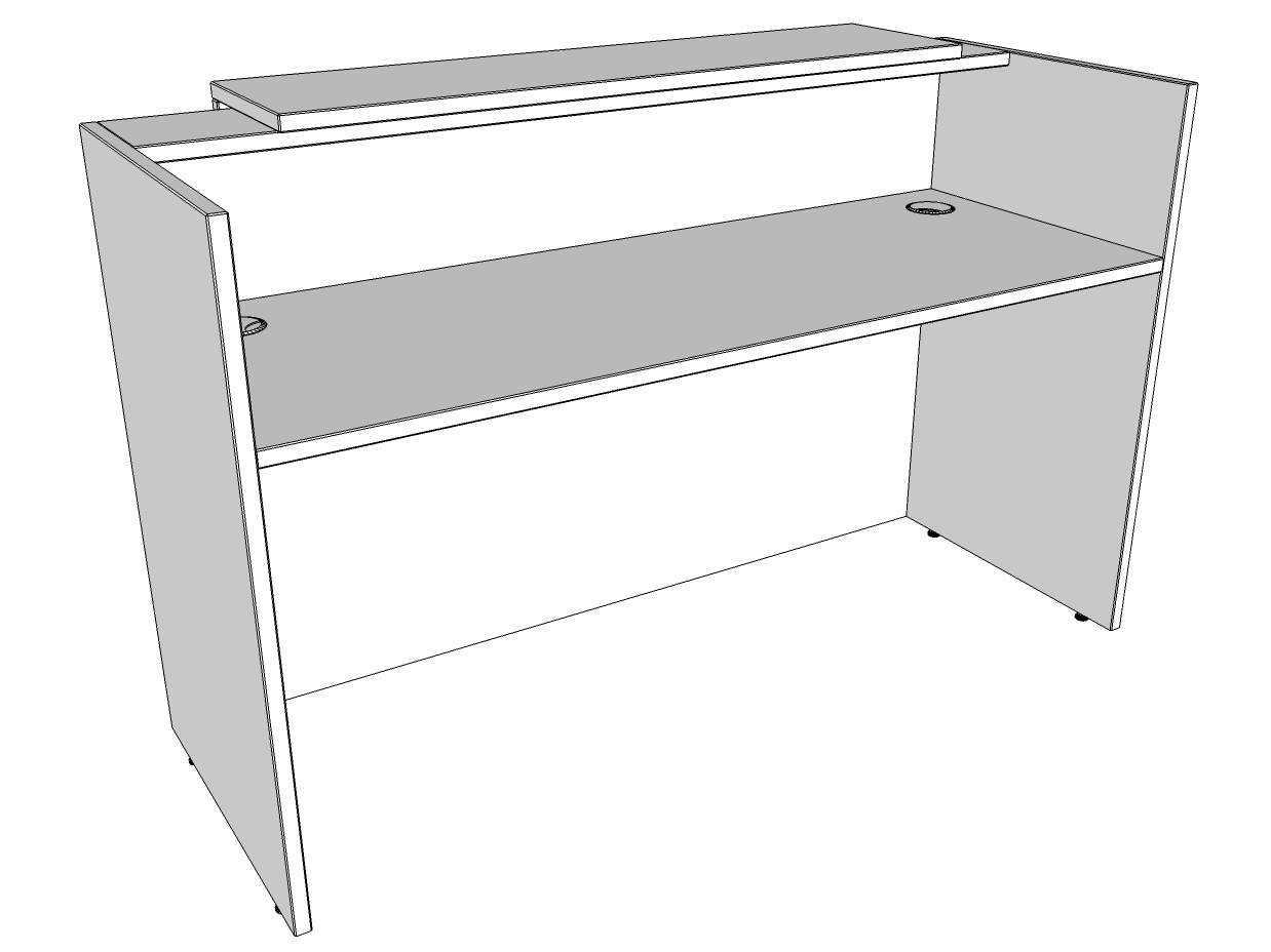 TCS Zion Single Reception Desk