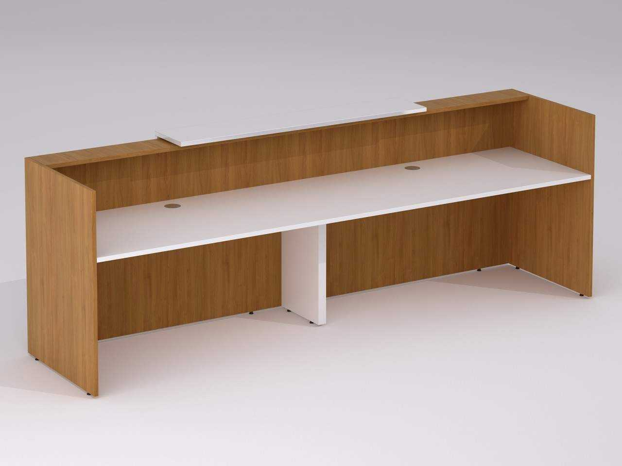 TCS Zion 2 Person Reception Desk with Single Front Panel