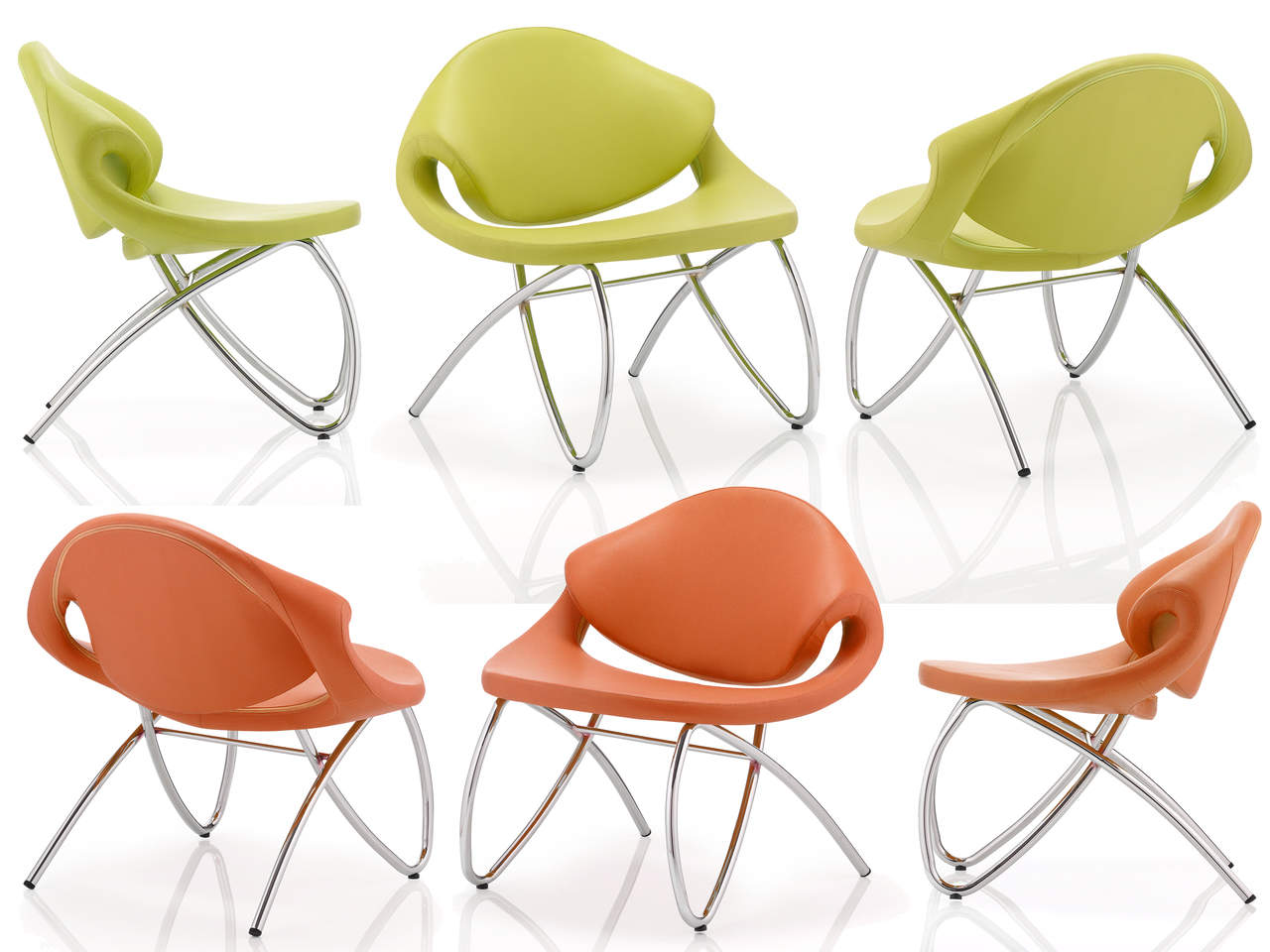 Beau Visitor Reception Soft Seating Chair in Green or Orange