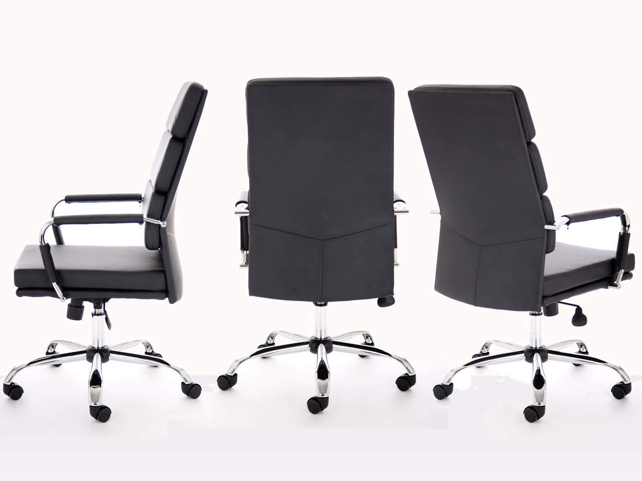 Advocate High Back Leather Executive Chair in Black or White