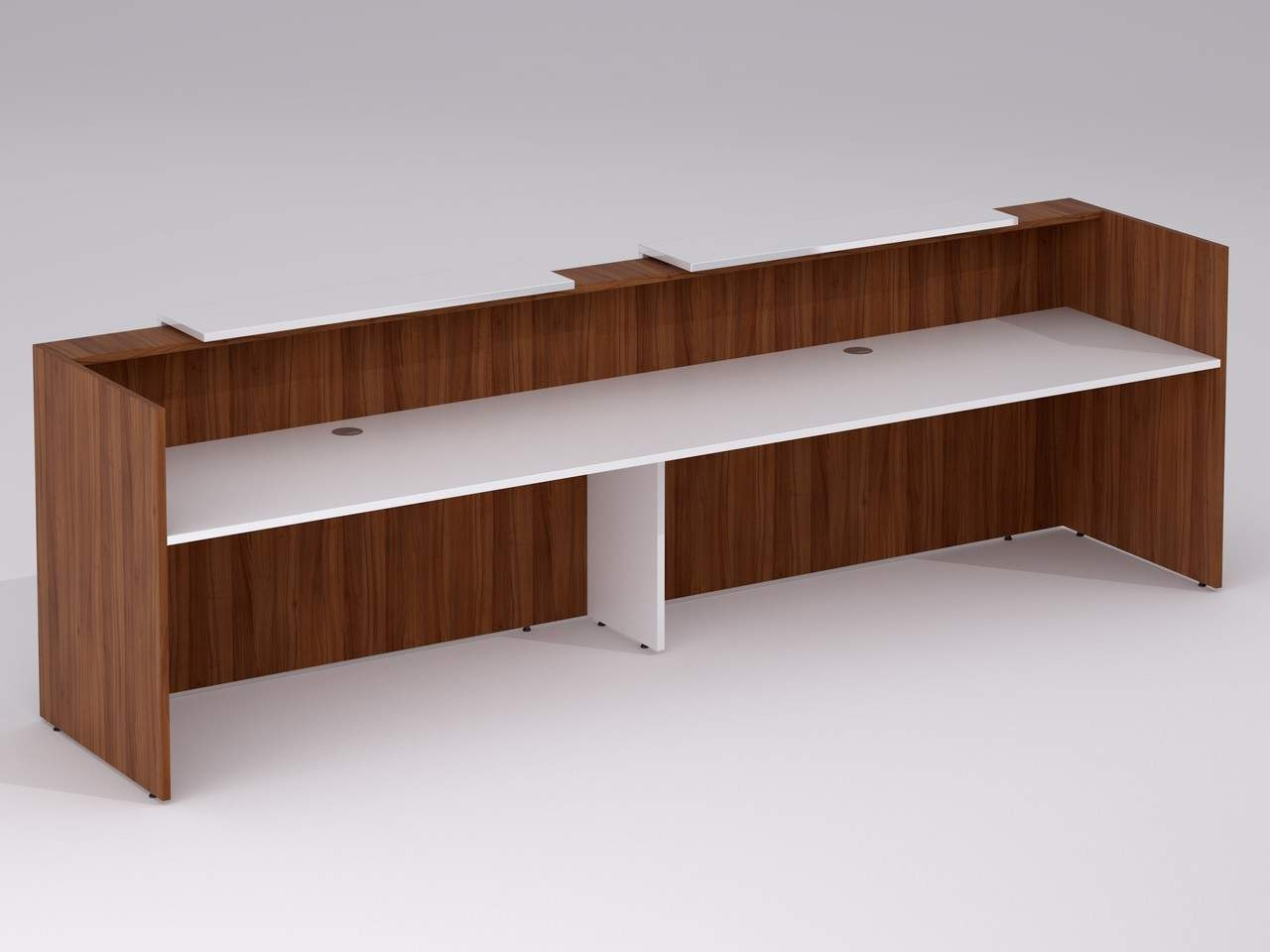TCS Zion 2 Person Reception Desk with Double Front Panels