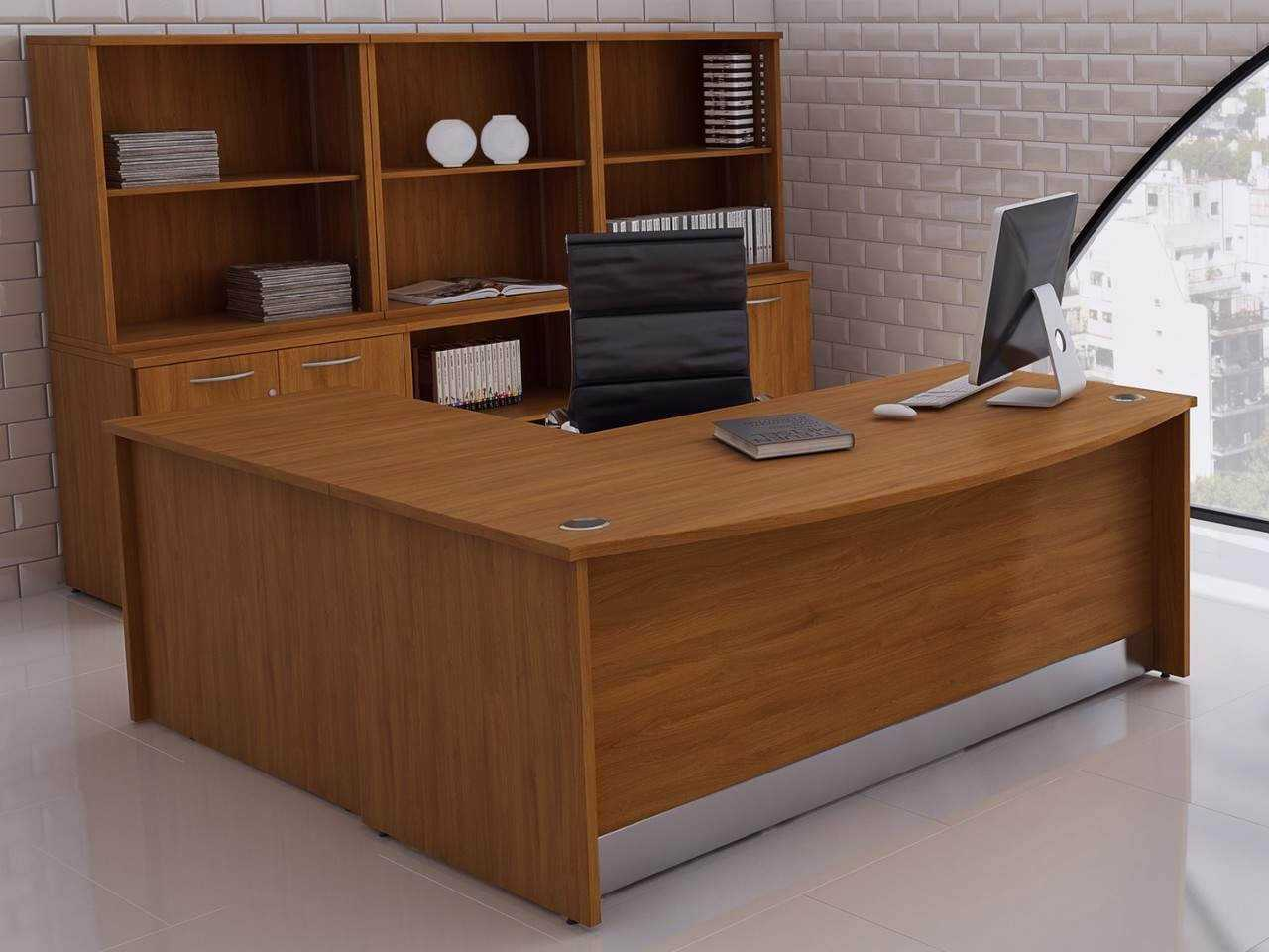 promo code d4f9b 5f82c TCS Empire Bow Fronted Executive Office Desk and Desk Return