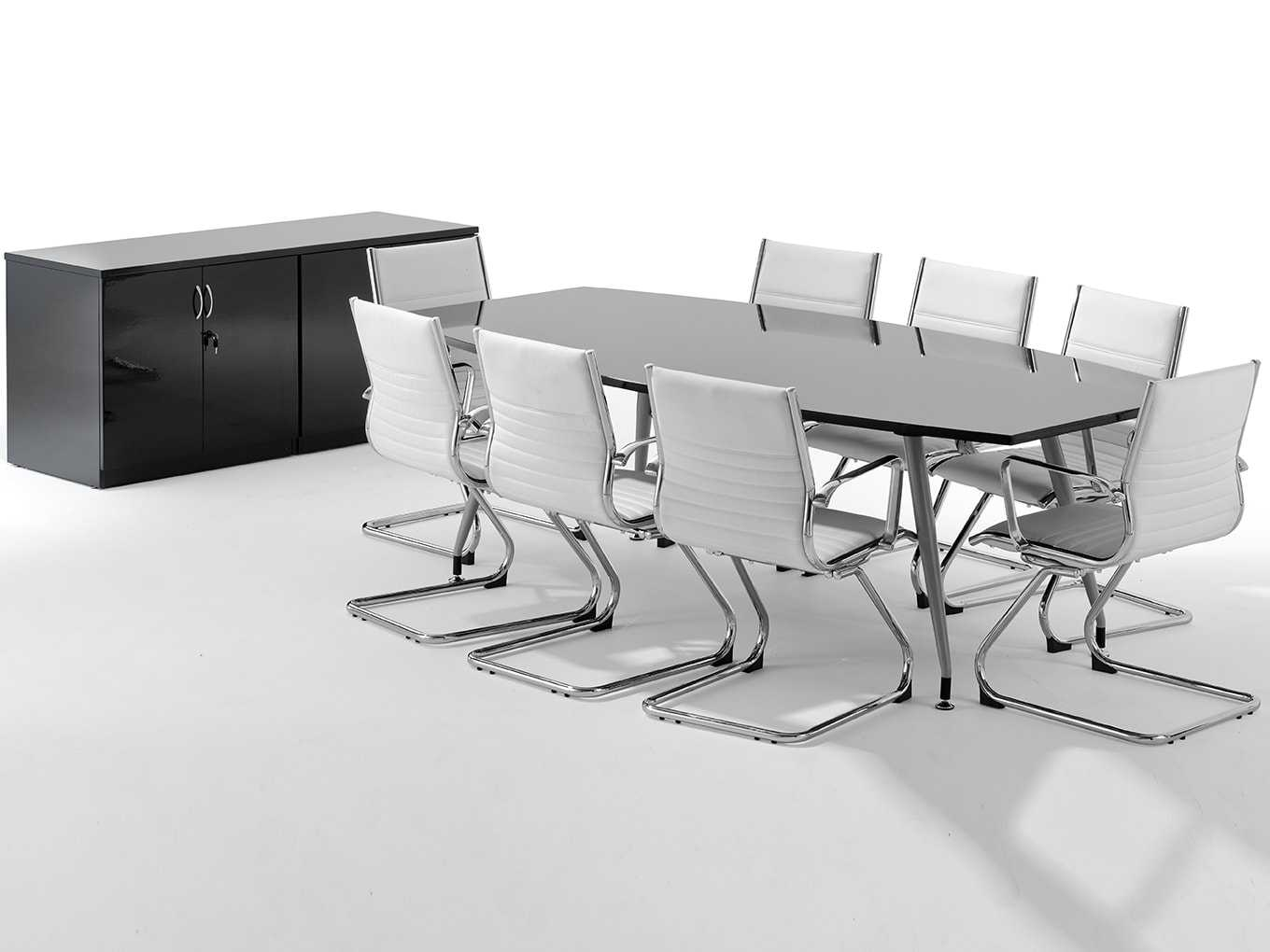 Office Meeting Table In Black Or White