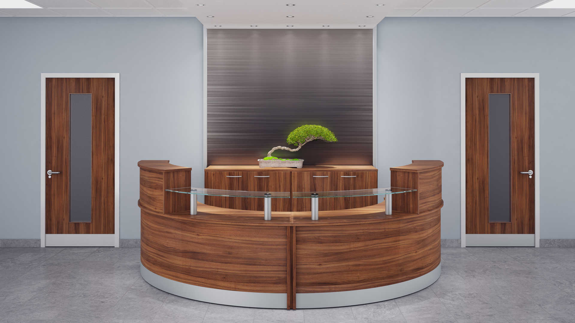 2 Person Reception Desk Counter Tcs