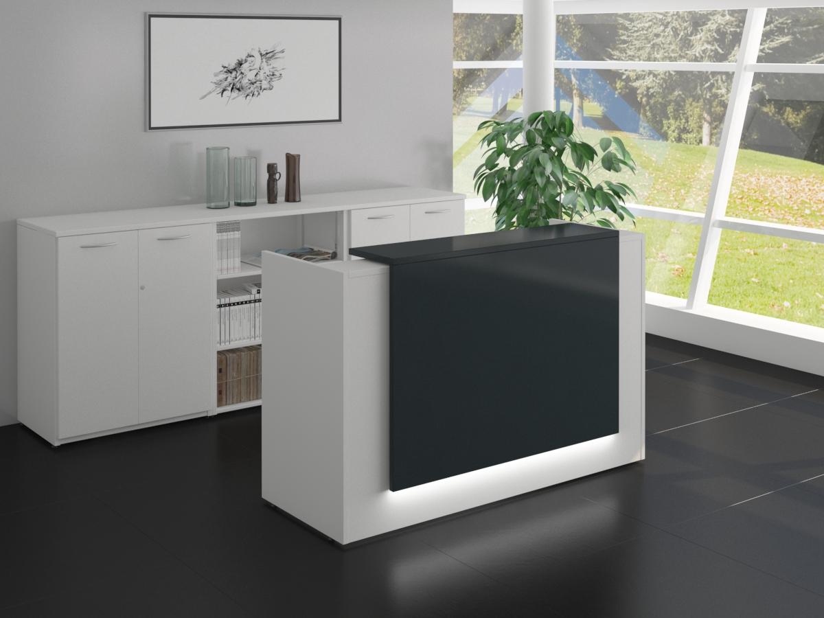 Magnificent Zion White Reception Desk Home Interior And Landscaping Elinuenasavecom