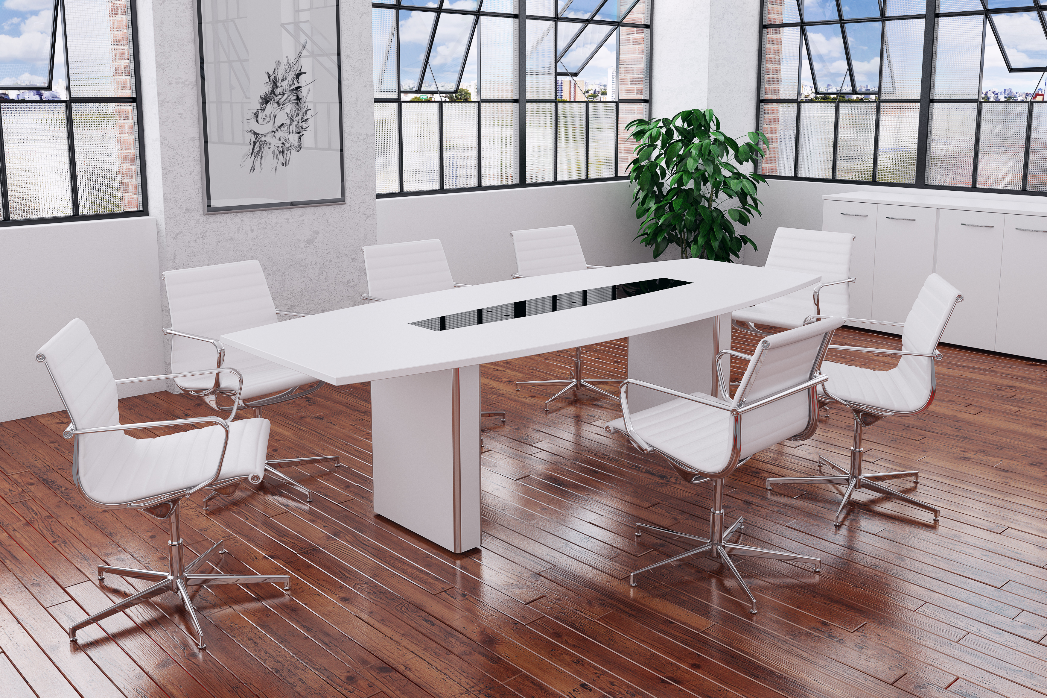 Tcs Barrel Meeting Table On Box Bases Rapid Office Furniture