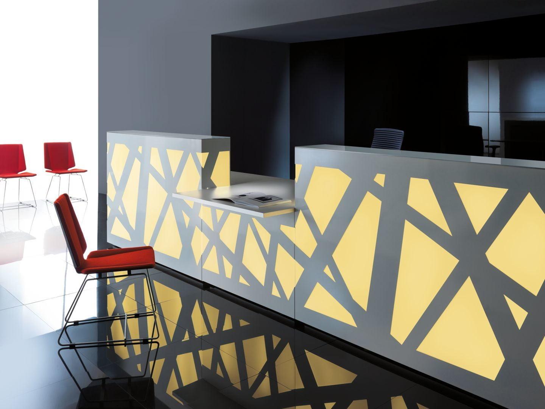 Zig Zag Reception Desk Counter Rapid Office Furniture