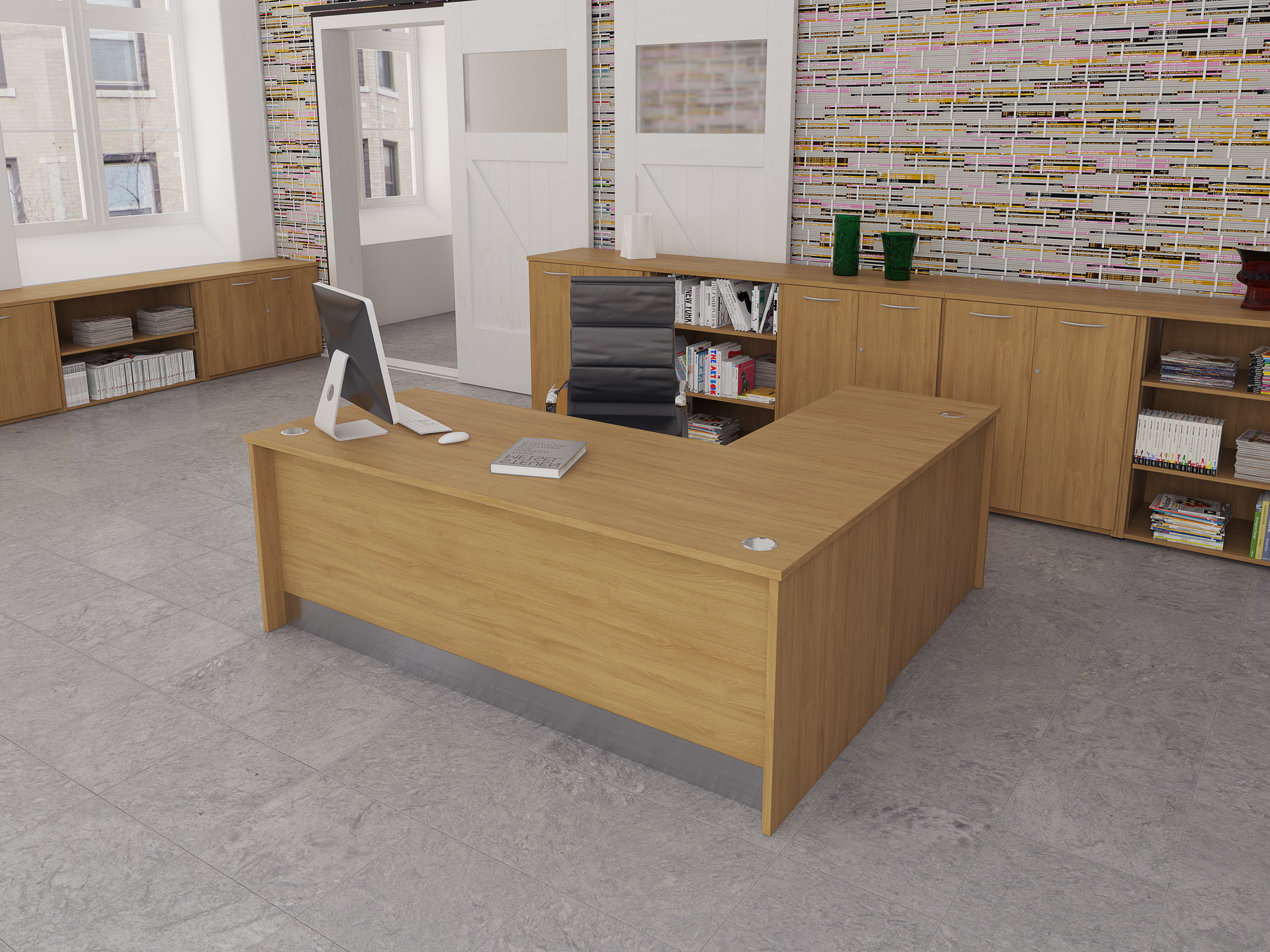 Tcs Empire Executive Desk With Full Modesty Panel And