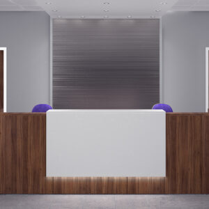 Zion Walnut reception desk